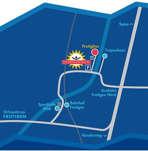 Lageplan Sportzentrum Frutigen
